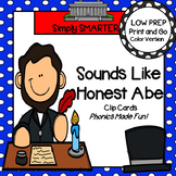 Sounds Like Honest Abe:  LOW PREP Same Beginning Sounds Clip Cards