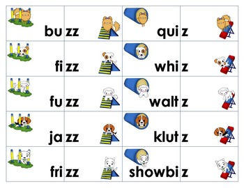 Sounds Like /z/ Word Sort and Game -s, -se, -z, -ze, -zz