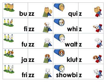 Sounds Like /z/ Word Sort and Game -s, -se, -z, -ze, -zz