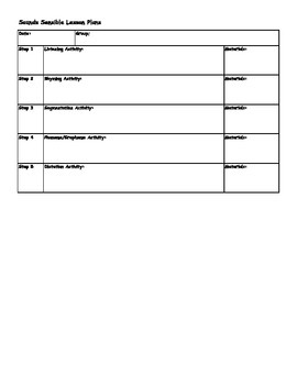 Sounds Sensible Lesson Plan Template