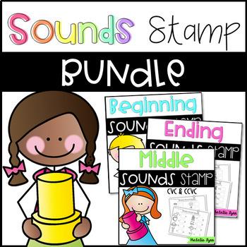 Phonics Stamp Literacy Center Bundle