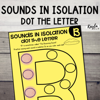 Sounds in Isolation: Dot the Letter