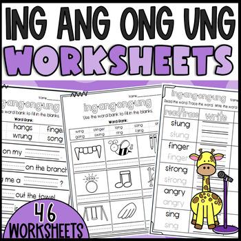 Phonics sounds: ing, ang, ong, ung!