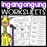 Phonics sounds: ing, ang, ong, ung Worksheets! Sorts, Cloze, Read & Draw, & more