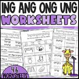 Phonics sounds: ing, ang, ong, ung Worksheets! Sorts, Cloz