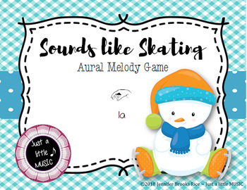 Sounds like Skating -- An Aural Melody Recognition Game {la}