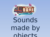Sounds made by objects - English Vocabulary ppt