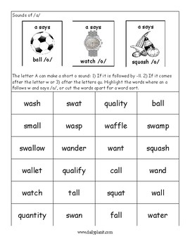 Sounds of A Worksheet