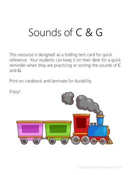 Sounds of C & G Desk Reference Card
