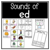 Suffix ed - Sounds of ED Sorting Cards and Game
