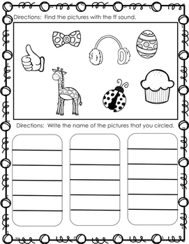 Sounds of F (gh, ph, ff) Activity Pack