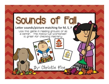 Sounds of Fall Letter/Sound Sort M, S, P