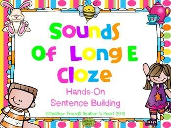 Sounds of Long E Cloze: Hands-On Sentence Building