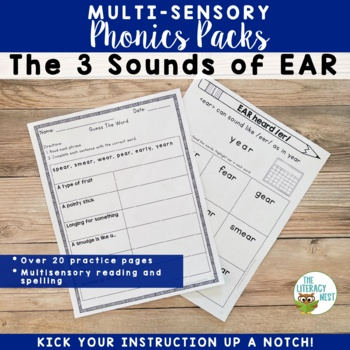 Sounds of EAR Multisensory Reading Activities for Orton-Gillingham