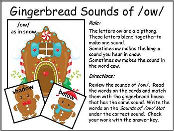 Sounds of /OW/-Gingerbread Theme