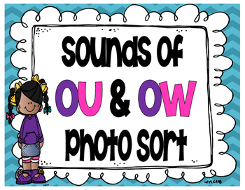 Sounds of OW and OU Photo Sort