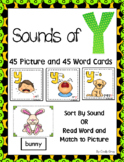 Sounds of Y ~ Pocket Chart Sort with Matching Word Cards