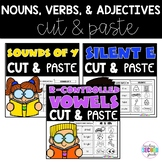 Sounds of Y | Silent E | R Controlled Worksheets