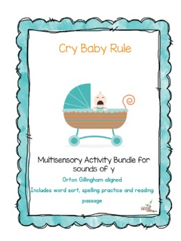 Orton Gillingham aligned-y as a vowel-Cry Baby Rule multisensory activities