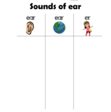 Sounds of ear word sort