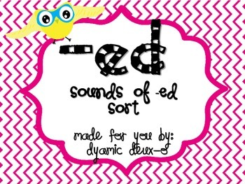 Sounds of -ed