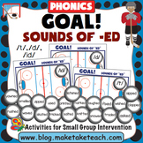 Sounds of -ed - Past Tense- Goal! A Hockey Themed Activity