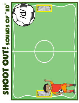 Sounds of -ed - Past Tense- Goal! A Soccer Themed Activity