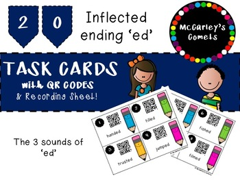 Sounds of ed QR Code Task Cards