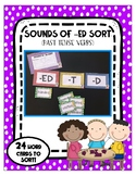 Sounds of -ed Sort - Past Tense Verbs