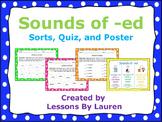 Sounds of ed worksheets   Sorts   Quiz   Poster