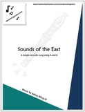 """""""Sounds of the East"""" Recorder Music with Fun Background Track"""