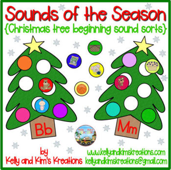 Sounds of the Season {Christmas tree beginning sound sorts}