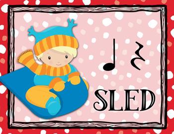 Sounds of the Season - Winter Holiday Rhythm Bulletin Board