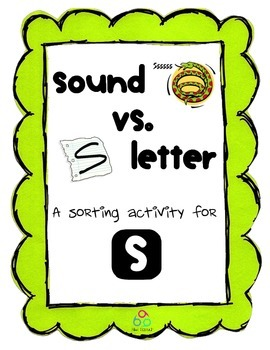 Sounds vs. Letters - An Articulation / Phonics Discrimination Activity for S