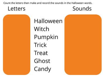 Sounds vs Letters-Halloween