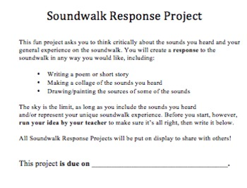 Soundwalk Activity - Perfect for Spring/Summer!