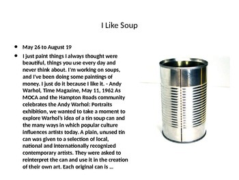 Soup Can Art