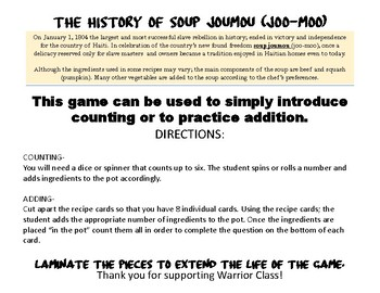 Soup Joumou Counting Activity