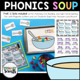 Soup Phonics Centers: Letter Matching, Sight Words, and CVC games