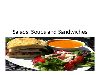 Soups, Salads, and Sandwiches Powerpoint