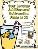 Sour Lemons! An Addition and Subtraction Game {Facts to 20}