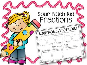 Sour Patch Fractions! Math Center. Fun Math!! Sour Patch Kids!