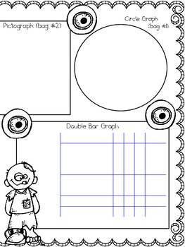 Zombie Kids Candy Data Mat Activity ~ Great for Review!