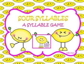 Sour Syllables             A Syllable Game