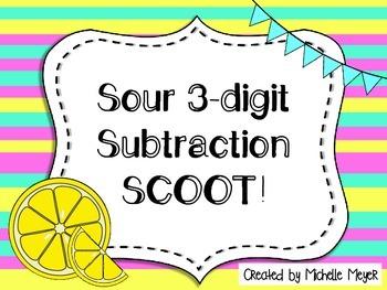Sour Three-Digit Subtraction SCOOT!