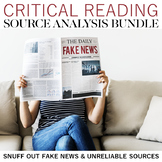 Critical Reading Source Analysis Bundle