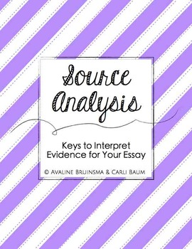Keys to Interpret Evidence for Your Essay - (COMMON CORE ALIGNED - Gr. 6-12)