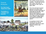 Source Analysis:  The Battles of Lexington and Concord Graphic Organizer
