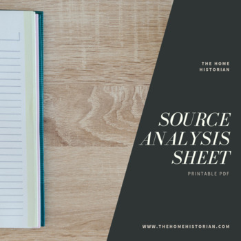 Source Analysis Worksheet