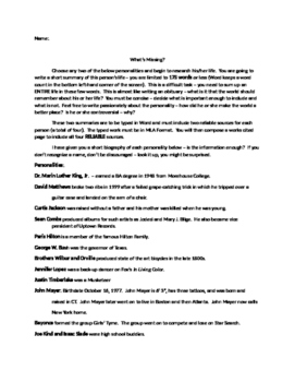 Source Analysis and Biography